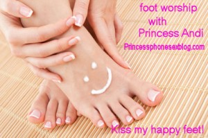 foot worship with Princess Andi
