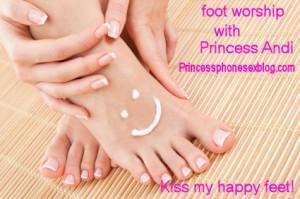 foot worship with Princess Andi