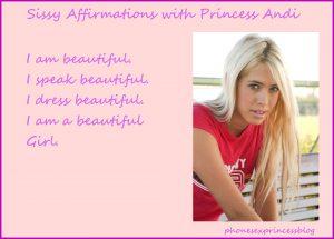 sissie mirror, sissy affirmation, get girlie, feminization